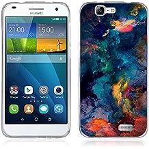 Funda Huawei Ascend G7 - Fubaoda - Alta Calidad Serie de Artística, Gel de Silicona TPU, Fina, Flexible, Resistente a los arañazos en su parte trasera, Amortigua los golpes, funda protectora anti-golpes para Huawei Ascend G7