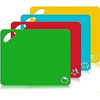 Taglieri Cucina Set in Plastica  Olivivi Tagliere da Cucina Antiscivolo Flessibile Alimenti Lavabili in Lavastoviglie Antimicrobico Resistente al Calore non Tagliente  Set of 4