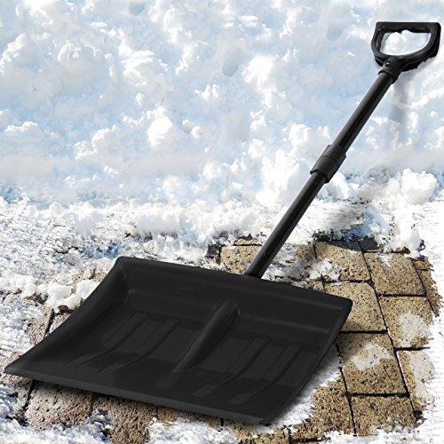 Jago Schneeschaufel Schneeräumer einzeln oder im zweier Set mit Farbwahl inkl. Stiel aus Stahlrohr - 8