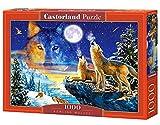CASTORLAND Howling Wolves 1000 pcs 1000pieza(s) - Rompecabezas (Jigsaw Puzzle, Fauna, Niños y...
