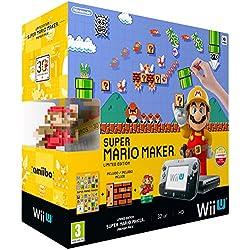 Wii U: Consola + Super Mario Maker + Amiibo Mario - Premium Pack