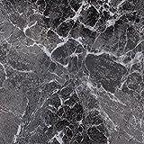 24Stück rutschfeste Bodenfliesen, selbstklebend, einfach abziehen und aufkleben, Dark Marble, 31cm x 31cm x 0.9cm