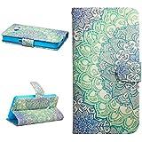 Dokpav® Samsung Galaxy Core 2 G355H Funda,Ultra Slim Delgado Flip PU Cuero Cover Case para Samsung Galaxy Core 2 G355H con Interiores Slip compartimentos para tarjetas-Flower bicolor