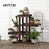 WYDM 4-Schicht Blumenständer Pflanzenständer aus Holz vertikalen Blumenständer Eckzarge