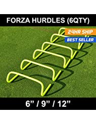 FORZA Speed / Agility Training Hurdles [Pack of 6] - Choose Your Size! [Net World Sports]