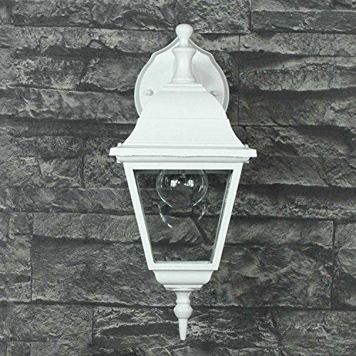 Wandlampe rustikal/weiß/LED geeignet / IP44 1x E27 bis 60W 230V / Hof Licht/Beleuchtung Einfahrt Außenbereich Garten Wandleuchte nostalgisch -