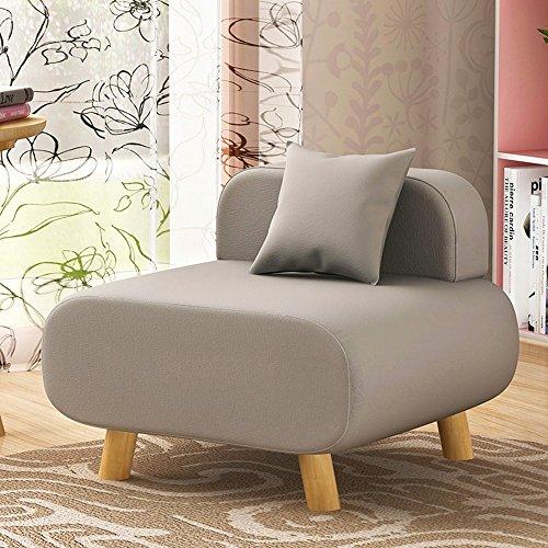 Chaises longues-Salle de séjour créative Chambre arrière Coussin Canapé parfumé Canapé Chaise Simple Petit canapé -Applicable à l'intérieur et à l'extérieur (Couleur : Gris)