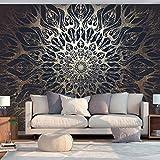 murando - Vlies Fototapete Mandala 250x175 cm - Vlies Tapete - Moderne Wanddeko - Design Tapete - Ornament Orient Zen f-A-0659-a-b
