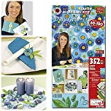 Karen Marie Klip: Quilling KIT, 3D Daisy Flowers, blue/turquis