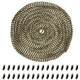 Inoxydable Chaîne Boule, Cizen 5M Perle de Connecteur Ajustable avec 30Pcs Fermoirs Embouts Connecteurs - convenir pour Pendentif, DIY Collier (Bronze)