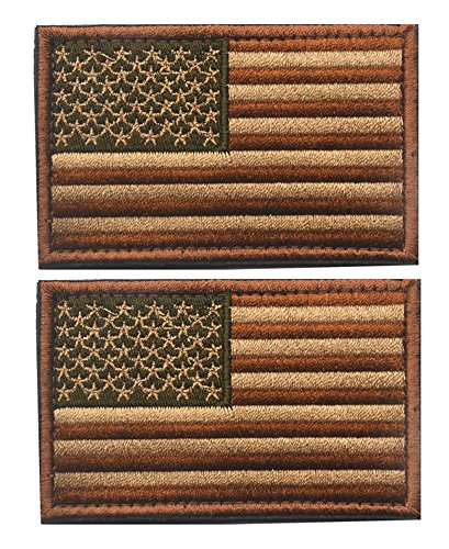 Tacvasen - Parche bordado coser bandera Estados Unidos