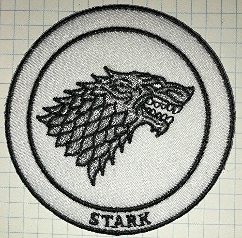 Juego Tronos Casa Stark Direwolf gamuza bordado iron