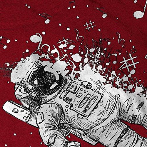 Astronaut Kosmos Platz Mondwanderer Damen S-2XL Muskelshirt | Wellcoda Rot