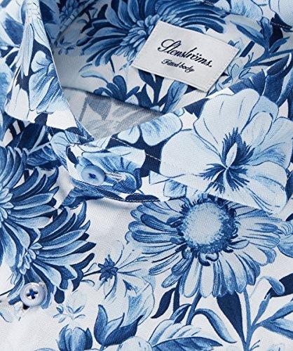 Stenstroms Hommes chemise floral Bleu Bleu