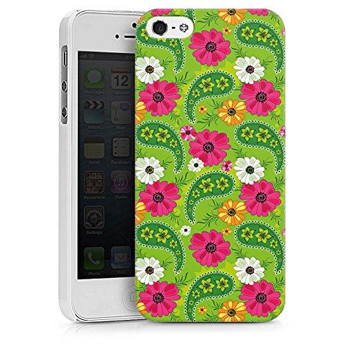Apple iPhone X Silikon Hülle Case Schutzhülle Blumen Muster Bunt Hard Case weiß