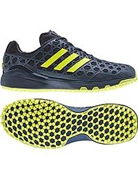 huge sale 47472 e24db NEW 2017 Adida Adizero Mens Hockey Astro Shoes - Blue  Yellow