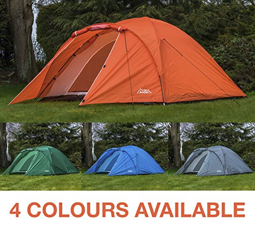 Andes 4 Person Man Berth Double Skin Camping/Festival Dome Tent 1