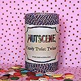Nutscene Candy Twist Baker 's Twine, color rojo y blanco 100m bobina