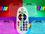 10-30m 230V RGB LED 60 leds Strip Streife leiste ip68 mit Kontroller Dimmer FB (15M)