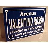Noir & Mat Sérigraphie Valentino Rossi Placa de Calle creación Collector Edition Limitada Regalo Original