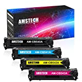 Amstech 4 Pack Kompatibel Toner für HP 125A CB540A CB541A CB542A CB543A für HP Color LaserJet CP1515N, CP1215, CM1312, CM1312NFI, CP1518NI, Canon i-Sensys LBP5050 -Laserjet CP1515N, CP1215, CM1312NFI