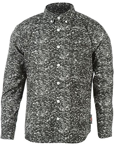 Junior Boys Lee Cooper All Over Pattern Tessile A Maniche Lunghe Charcoal AOP