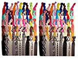 #10: Skudgear (Pack of 15) No Crease Elastic Ribbon Ponytail Holders Hair Bands, Prints and Solids