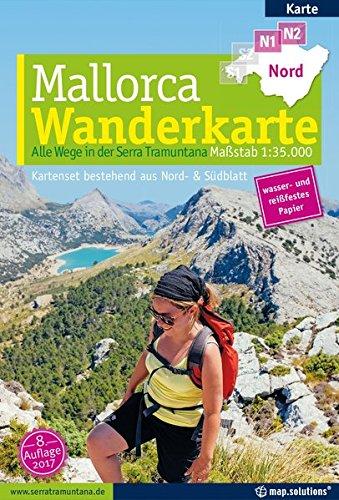 Mallorca - Wanderkarte 1:35.000 (Kartenset mit Nord + Süd-Blatt): Alle Wege in der Serra Tramuntana (Wanderkarten Wandern)