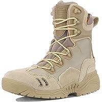 ZZMFC Bottes d'armée Tactiques pour Hommes, randonnée, Cuir Durable, Chaussures d'armée, Chaussures d'entraînement…