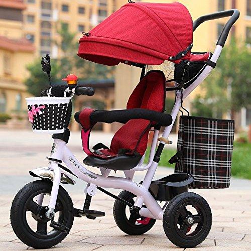 DACHUI Aufblasbare Fahrrad, Kinder Dreirad, Licht Trolley, Baby Kinderwagen, Kinder Fahrrad (Color - Cabrio Kind Autositz