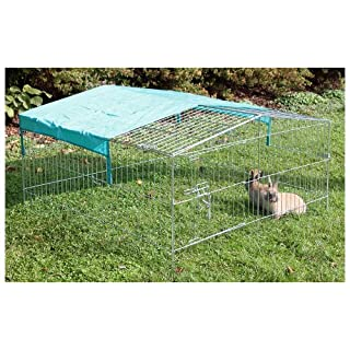 Kerbl Outdoor Pen Easy Galvanized with sun protection, 115 x 115 x 60 cm