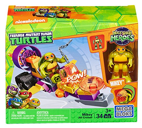 Mega Bloks - Teenage Mutant Ninja Turtles Half Shell Heroes - Mikey Jet Cruiser (Dmw42)