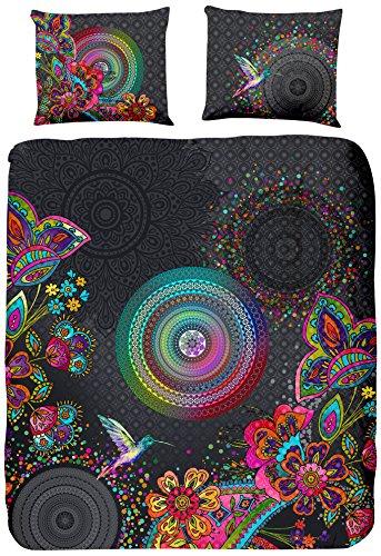 HIP Parure de Couette Coton, Multicolore, 200x200 cm