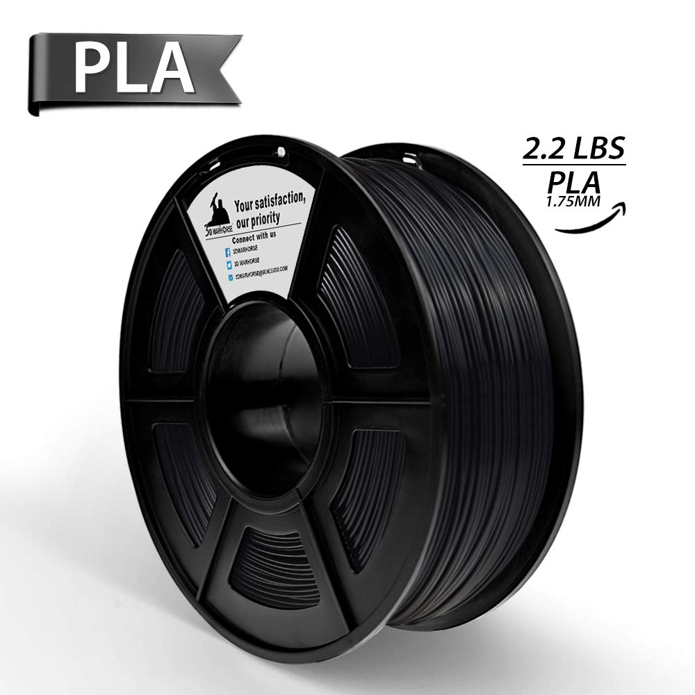 PLA Filament,3D Hero PLA 3D Printer Filament, Dimensional Accuracy +/- 0.02 mm,1.75 mm 1 kg Spool(2.2lbs),More Than 10 Colors for Your Option