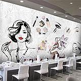 Mznm Custom 3D Wallpaper Europäische und Amerikanische Mode Aquarell Beauty Beauty Kosmetik Werkzeuge Tapeten Wand Hintergrund