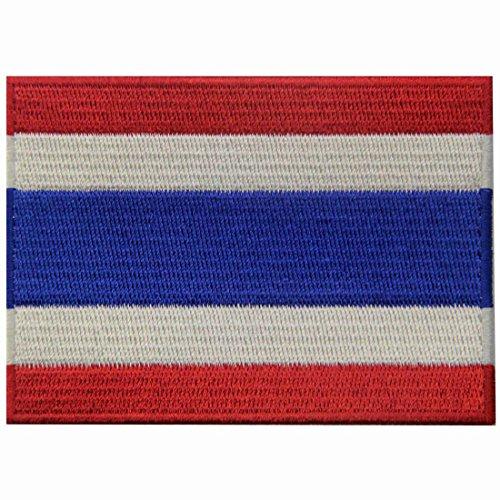 Bandiera della thailandia termoadesiva cucibile ricamata tailandese nazionale toppa