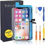bokman OLED Pantalla para iPhone X, Táctil OLED Reemplazo con Herramientas de Reparación(Negro)