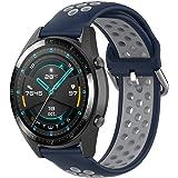 KOMI Bracelet de montre en silicone de 20 mm et 22 mm - Pour femme et homme