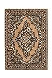 Teppich Wohnzimmer Carpet Klassisch Traditionell Design Asia 004 RUG Ornament Muster Polypropylen 280x370 cm Beige / Teppiche günstig online kaufen