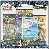 Pokémon: Tri Pack FRANCAIS de 3 boosters Soleil et Lune Ultra Prisme 'Goupix d'Alola' – SL5