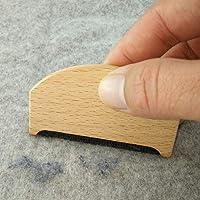 Rasoirs à peluches en bois, pour tissu cachemire et tricot