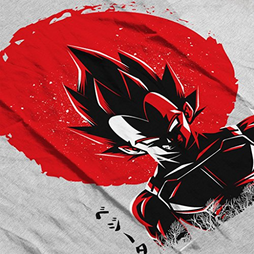 Cloud City 7 Vegeta Sun Poster Dragon Ball Z Women's T-Shirt Heather Grey
