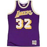 S-XXL HUAXUN Maglia da Basket da Uomo-Los Angeles Lakers 34# Shaquille ONeal Camicia retr/ò Ricami Estivi Top Swingman Adulto Costume da Basket Regalo di Compleanno