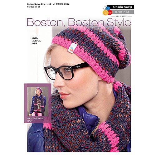 Schachenmayr Women's Cap, Scarf and Mittens in Boston and Boston Style Yarn - 9813784