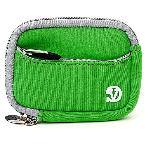 Vangoddy Mini Glove Sleeve Pouch Case For Nikon Coolpix P340, P330, P310, P300, P5000 Point & Shoot Digital Cameras (Green Gray Trim) (AD_CAMLEA638_CAM:14:VGLV010)  available at amazon for Rs.1393