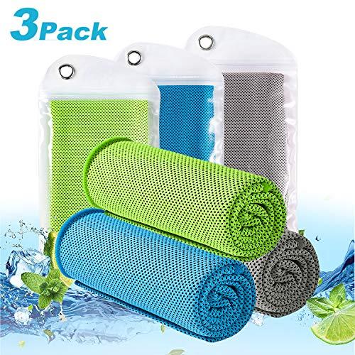 LEBEXY Kühlendes Handtuch | Kühlhandtuch | Sporthandtuch Ultraleicht Kühltuch | Schnelltrocknend Reisehandtuch Cooling Towel | Fitness Handtuch für Laufen, Reise & Yoga -