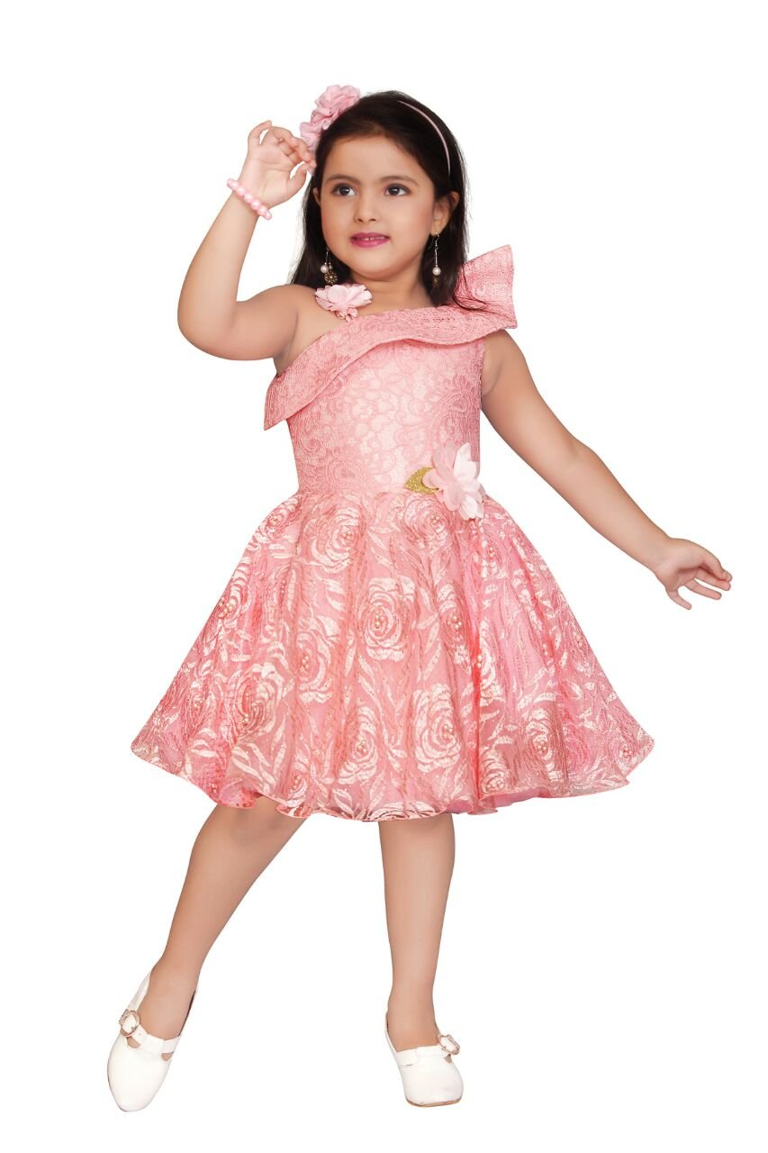 fbbea053a25b Apna Baby Party Dress Party Frock for Kids Multicolour - lali mix india