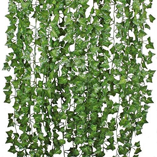 Künstliche Fake Ivy Garland Ivy Leaves Aufhängen Greenery Vines Pflanzen für Home Kitchen Garden Office Hochzeit Wand Decor ()