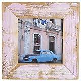 Bilderrahmen aus echtem Alt-Holz im Landhaus-Stil vintage, rustikal - handgefertigte Unikate in Rose 20x20