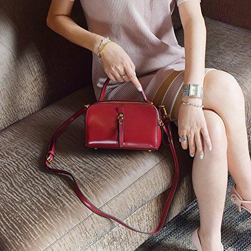 Sacchetto di estate, mini sacchetto del messaggero, borse, sacchetto di clip retro, sacchetto di spalla del sacchetto del messaggero ( Colore : Nero ) Rosso